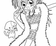 Coloring pages Kirarin free coloring