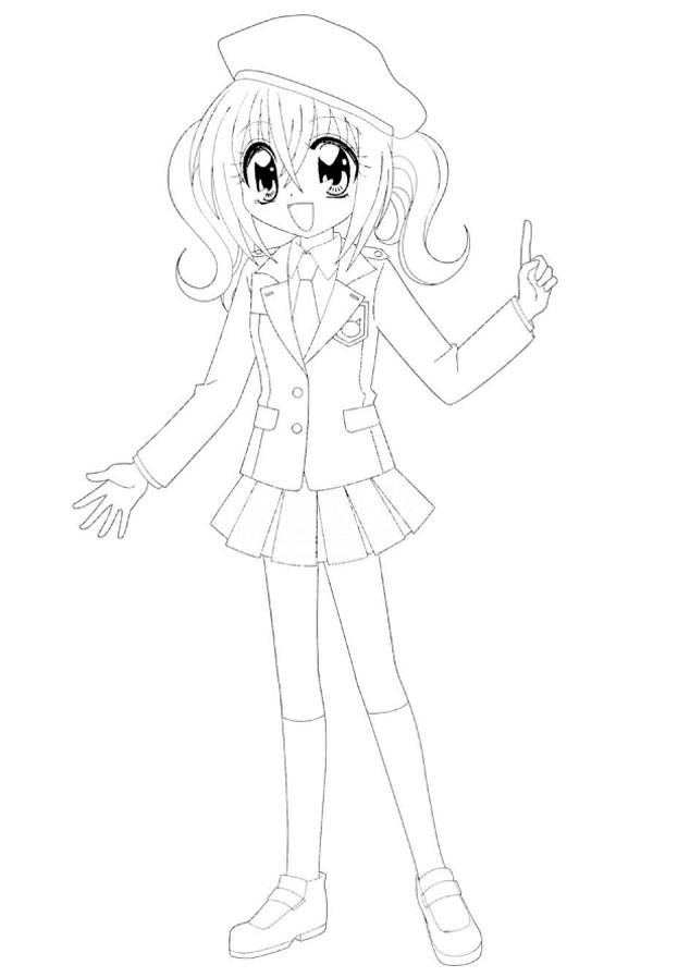 Free coloring and drawings Simple Kirarin  Coloring page
