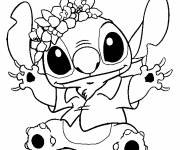 Coloring pages  drawing of stitch in black and white