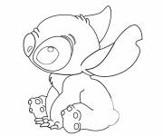 Free coloring and drawings Easy Cute Stitch Drawing Coloring page