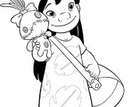 Coloring pages Lilo and his doll