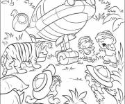 Coloring pages A tiger that scares little discoverers