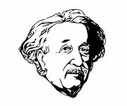 Coloring pages Albert Einstein drawing