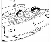 Coloring pages Little Einsteins and spaceship