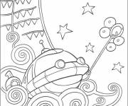 Coloring pages Little Einsteins discover the sea