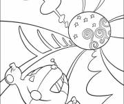 Coloring pages Little Einsteins in the universe