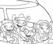 Coloring pages Little happy Einstein drawing