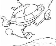 Coloring pages Space Ship drawing