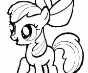 Coloring pages Apple Bloom Easy