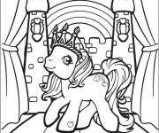 Coloring pages My little pony in crown