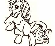 Coloring pages My Little Pony's unicorn