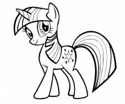 Coloring pages My Little Pony Twilight Sparkle