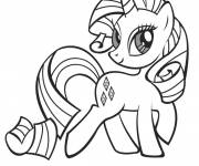 Coloring pages Rarity of my little pony