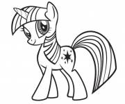 Coloring pages Twilight Sparkle easy