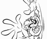 Coloring pages Angry looney tunes taz