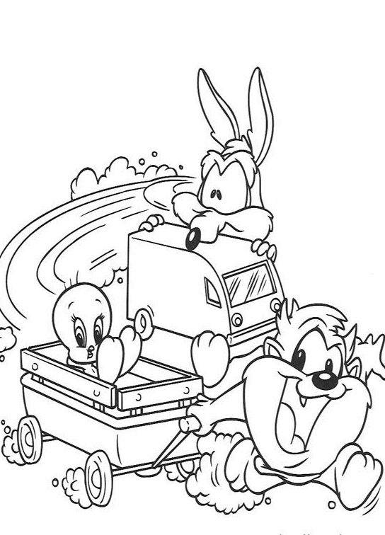 Free coloring and drawings Baby Looney Tunes Boomerang Coloring page