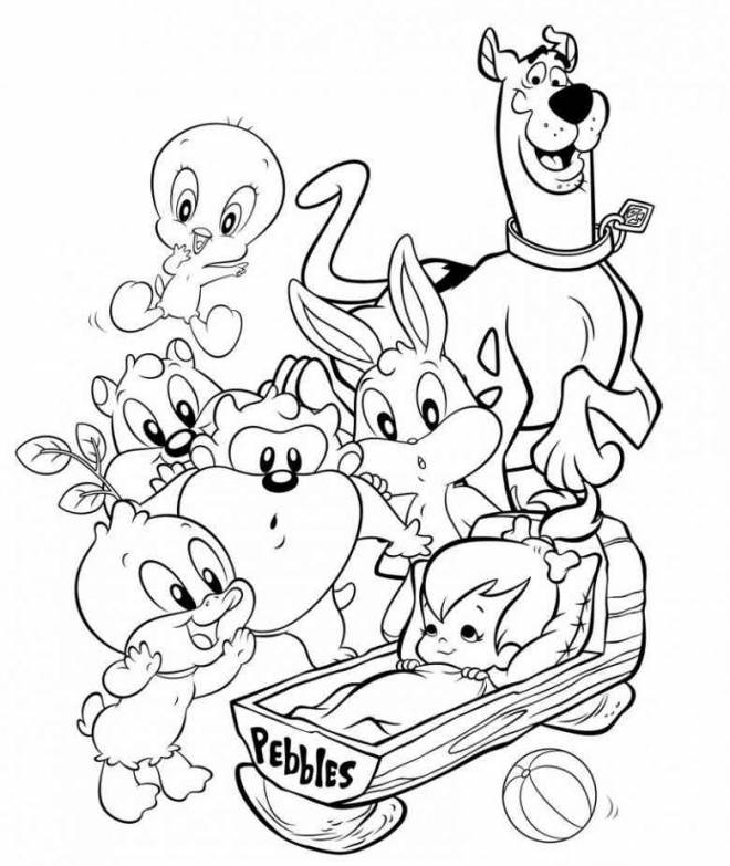 Free coloring and drawings Baby Looney Tunes to color Coloring page