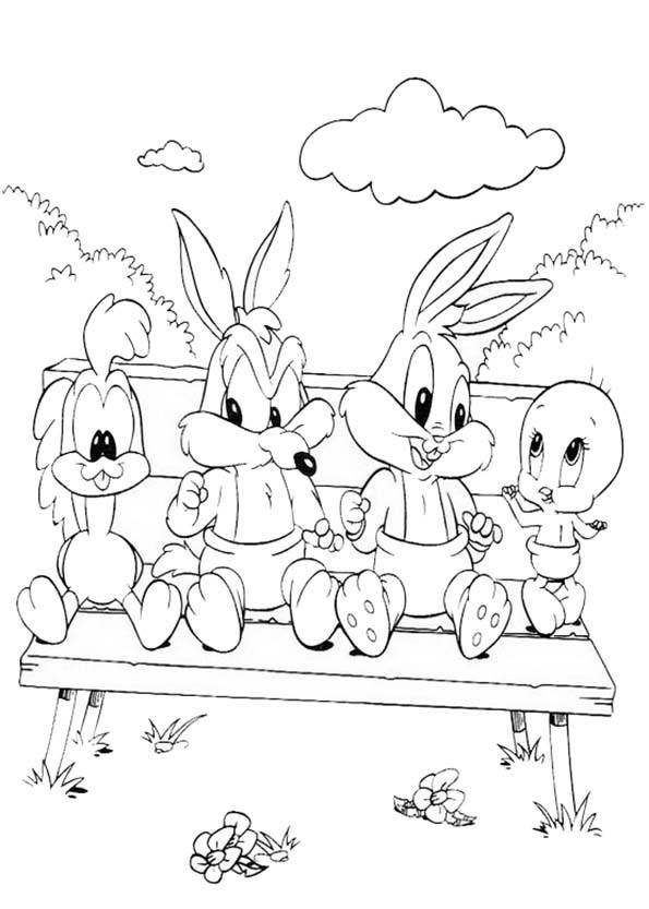 Free coloring and drawings Looney Tunes baby sitting Coloring page