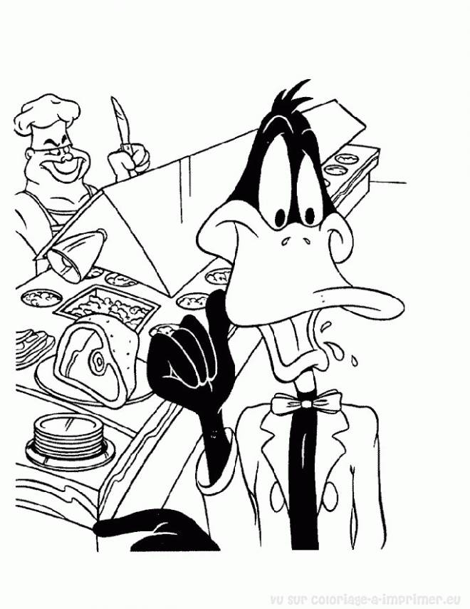 Free coloring and drawings Looney Tunes Daffy online Coloring page