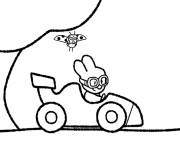 Free coloring and drawings Didou drives his car Coloring page