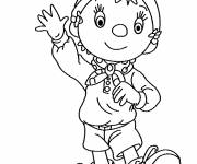 Coloring pages Didou says hi