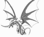 Free coloring and drawings Iron Dragon Coloring page