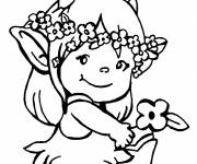 Free coloring and drawings Little Girl Didou Coloring page