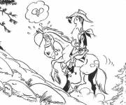 Coloring pages Lucky Luke in love