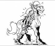 Coloring pages Lucky Luke laughing