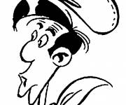 Coloring pages Lucky Luke's face