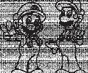 Coloring pages Drawing of Mario and Luigi to print