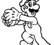 Coloring pages Luigi and ball