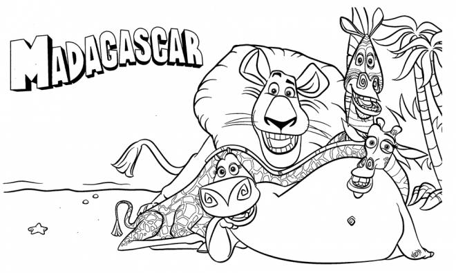 Free coloring and drawings Drawing of Madagascar  Coloring page