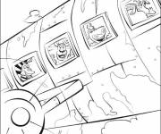 Coloring pages Madagascar airplane