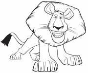 Free coloring and drawings Madagascar Alex the lion Coloring page