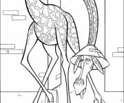 Coloring pages Madagascar animals for children