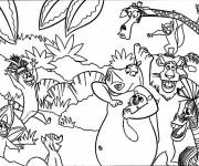 Free coloring and drawings Madagascar coloring to cut Coloring page