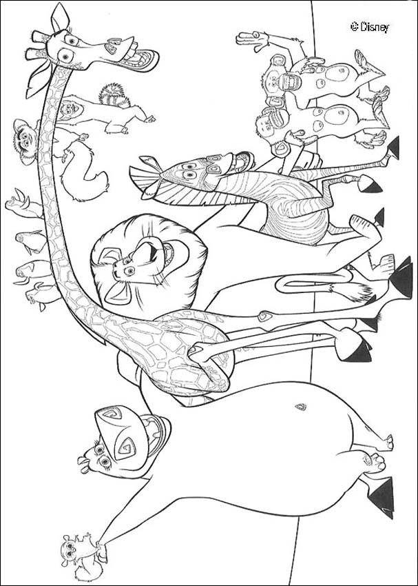 Free coloring and drawings Madagascar for free Coloring page