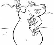 Coloring pages Madagascar Gloria online