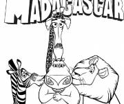 Coloring pages Madagascar movies