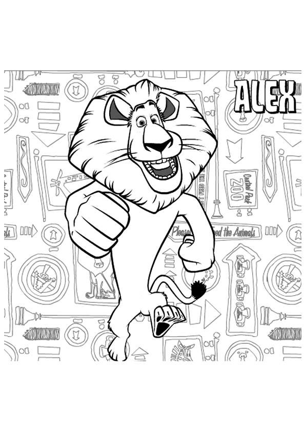 Free coloring and drawings Madagascar online Coloring page