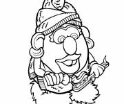 Coloring pages Mrs. Potato brushes her teeth