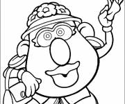 Free coloring and drawings Mrs. Potato greeting you Coloring page