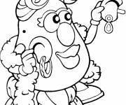 Free coloring and drawings Mrs. Potato in color Coloring page