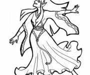 Coloring pages Disney princess step by step