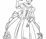 Coloring pages Easy princess