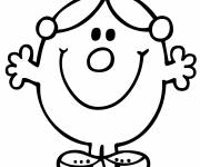Coloring pages Miss Princess smiling