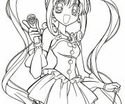 Coloring pages Manga Girl