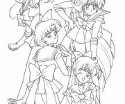 Free coloring and drawings Manga Girl Characters Coloring page