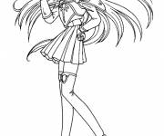Free coloring and drawings Manga Girl drawing Coloring page